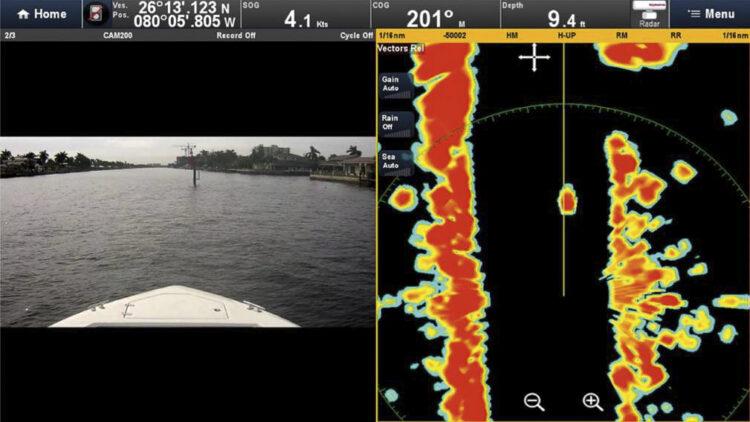 Marine-Radaranlagen: Auflösung im Nahbereich auf einem Raymarine Quantum Radar
