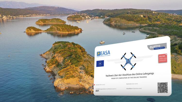 Drohnen Lizenz: EU-Drohnenführerschein / dem EU-Kompetenznachweis