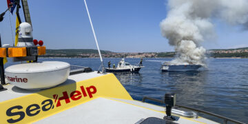Yacht Bayliner 29 off the island of Krk in Croatia in flames: Only property damage was caused by the fire / blaze