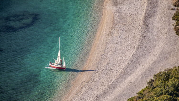 Strand / Sandstrand Tipps Kroatien für Segler: Lubenice Cres