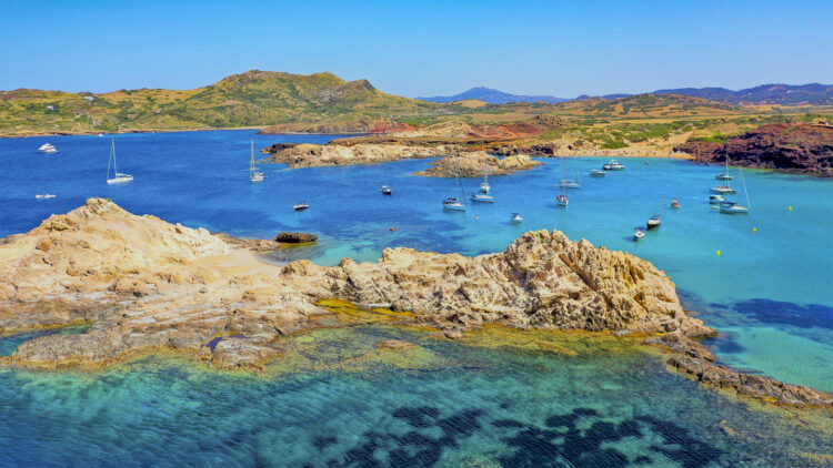 Menorca area - cruise around the island: Cala Pregonda bathing bay