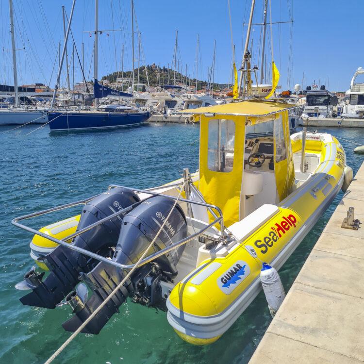 SeaHelp Stützpunkt und Einsatzboot Marina Tribunj Kroatien