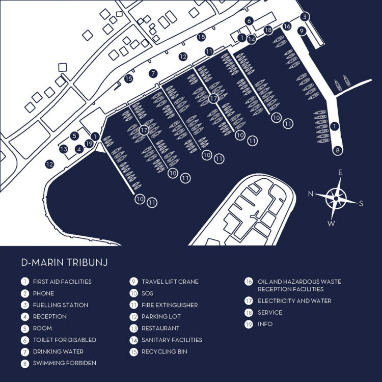 D-Marin Marina Tribunj Kroatien / Marina Plan