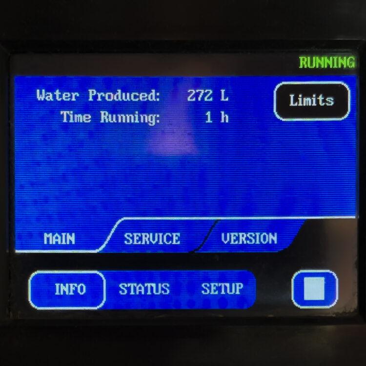 Watermaker für Boot und Yacht: Steuerung Display