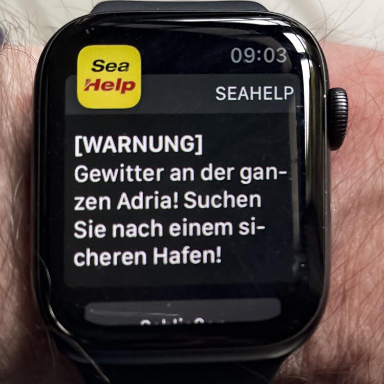 SeaHelp Notruf App: Wetterwarnungen auf der Apple Watch