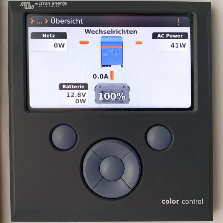 Strom-Management / Stromverbrauch auf einem Boot oder einer Yacht: Display Solaranlage