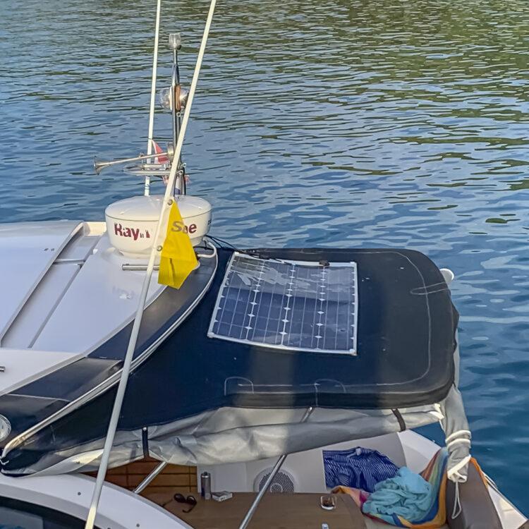 Strom-Management / Stromverbrauch auf einem Boot oder einer Yacht: Solarpanel