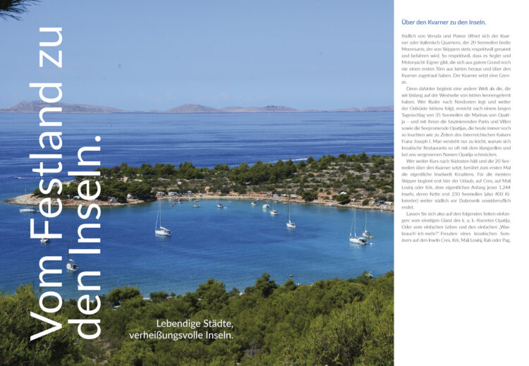 Area compass Croatia cruise: from the mainland to the islands